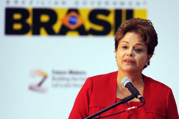 La mandataria brasileña, Dilma Rousseff, en la inauguració...