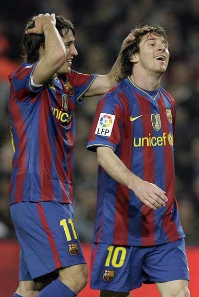 Lionel Messi tuvo algunas oportunidades para marcar, pero la zaga deport...