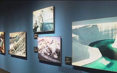 La exhibición sobre el cambio climático Extreme Ice se inauguró en el Mu...