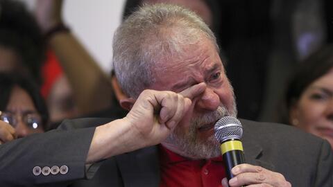 En rueda de prensa, Lula rechazó las acusaciones de corrupci&oacu...