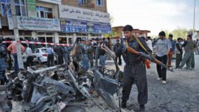 El ataque tuvo lugar cerca de un banco y al parecer el objetivo del suic...