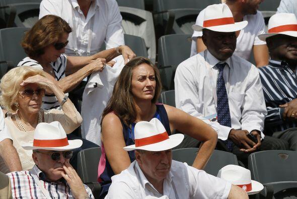 Entre los espectadores encontramos a la ex tenista francesa Mary Pierce.