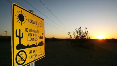 Frontera entre Arizona y México.