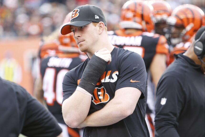 Los Bengals perdieron a su QB Andy Dalton y con ello el partido vs. Stee...