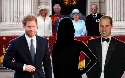 príncipes Harry y William de Inglaterra