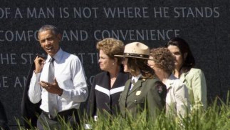 Obama y Rousseff visitaron este 29 de junio el Memorial de Martin Luther...