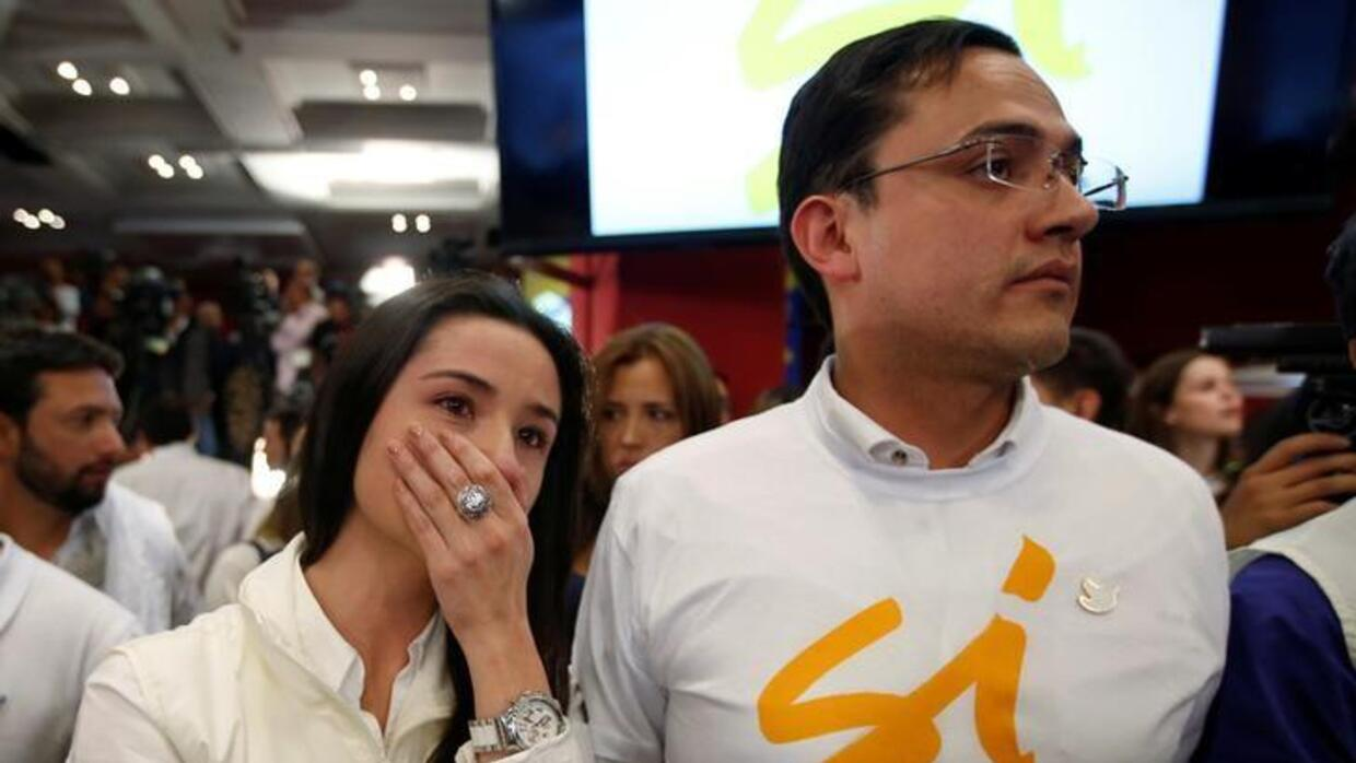Activists in the 'yes' camp react to the result.