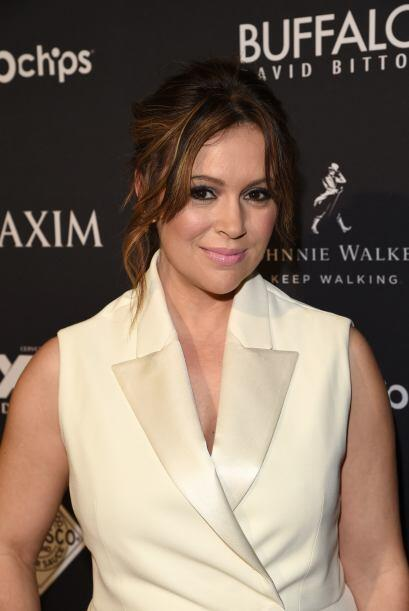 La actriz Alyssa Milano no podía faltar a la fiesta de Maxim.
