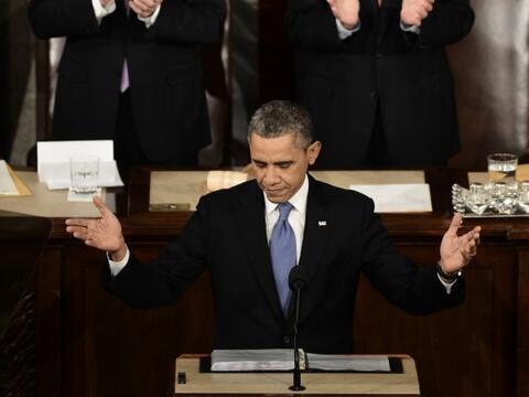 En su informe sobre el Estado de la Nación, el presidente Barack...