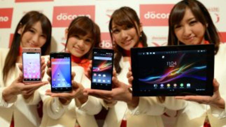 Sony presenta sus nuevos modelos de smartphones y tabletas durante el pr...