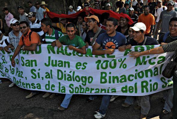En la marcha participaron estudiantes de numerosas universidades y escue...