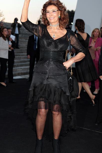 Sophia Loren siempre será un icono de la belleza italiana.