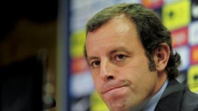 Rosell, presidente del equipo barcelonista, dijo que el equipo está disp...