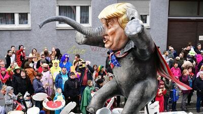 La imagen de Donald Trump protagoniza los carnavales alrededor del mundo (FOTOS)
