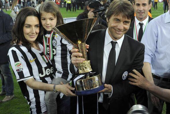 Y la celebración tuvo un especial toque familiar, Antonio Conte c...