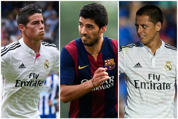 Tres latinos esperan tener un debut goleador en el derby español, por el...
