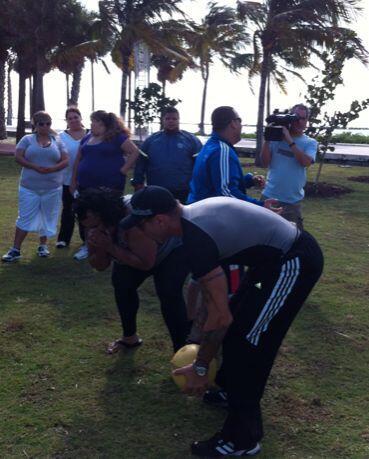 Fueron 12 participantes los que asumieron el reto de bajar de peso hacie...