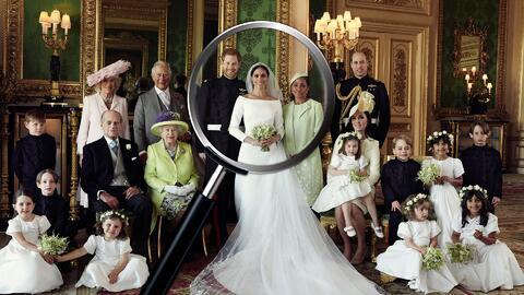 Algo falta en la foto oficial de la boda de Harry y Meghan