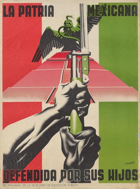 21 carteles anti-nazis creados en México La Patria Mexicana, Defedida Po...