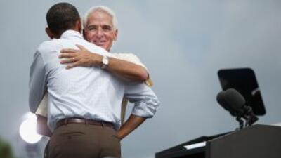 Charlie Crist, con el presidente Barack Obama.