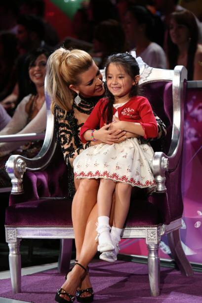 Bueno sí, cuando tuvo a su hermosa hija en sus piernas. ¡Qué momento más...