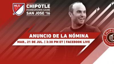 Landon Donovan anunciará la nómina para el Chipotle Homegrown Game por Facebook Live