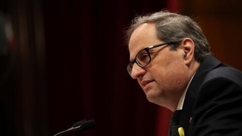 Quim Torra, nuevo presidente de la comunidad española de Catalu&n...