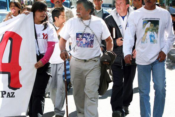 La caminata la emprendió el 17 de junio del 2007, y fue hasta marzo del...