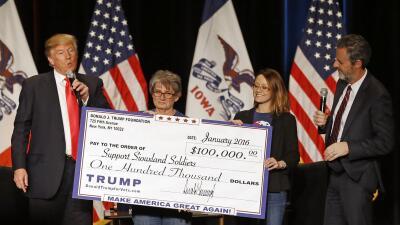 El presidente acuerda cerrar la Fundación Trump tras acusaciones de que usó su dinero para beneficio personal