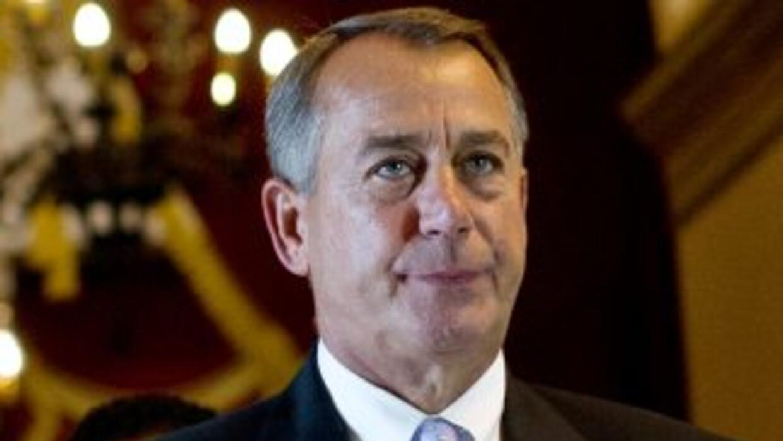 El legislador John Boehner (republicano de Ohio), presidente de la Cámar...