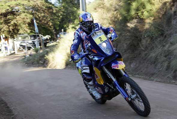 El francés Cyril Despres del equipo KTM tuvo otra etapa exitosa para men...