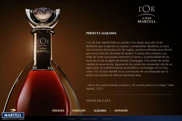 LICORES/ L'OR DE JEAN MARTELL- Este cognac, según su compañía creadora M...