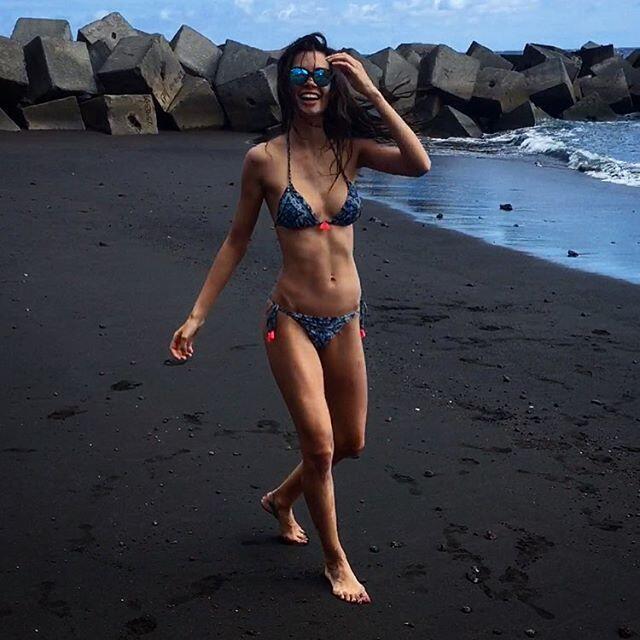 La bella modelo española publicó una fotografía en la cual presume un an...