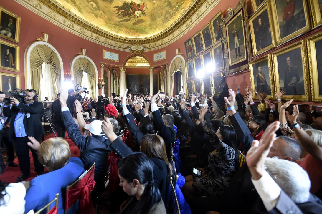 In photos: swearing in of the 'Chavista' Constituent Assembly that will...