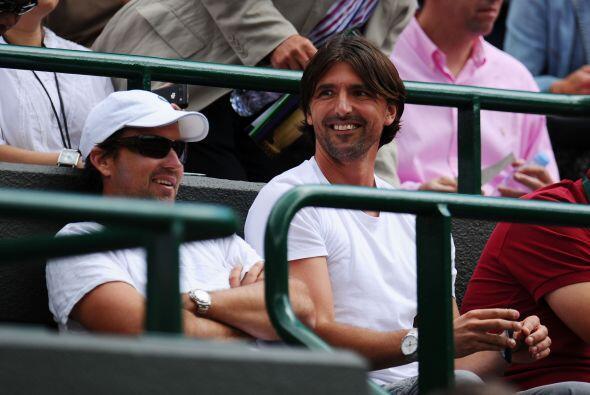 El ex tenista Goran Ivanisevic, no perdió la oportunidad de revivir mome...