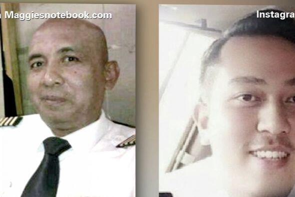 La tripulación completa, incluyendo a los dos pilotos Zaharie Ahmad Shah...