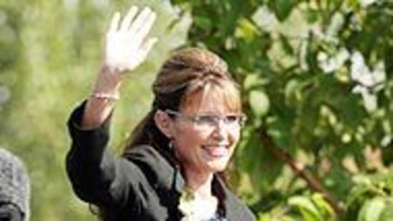 Sarah Palin ofreció un discurso de despedida en Anchorage, Alaska, ante...
