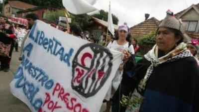 El apoyo del pueblo mapucho a los cuatro que se encuentran en huelga de...