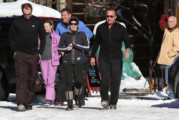 Nuestro lente chismoso siguió a Schwarzenegger hasta Ketchum, idaho, don...
