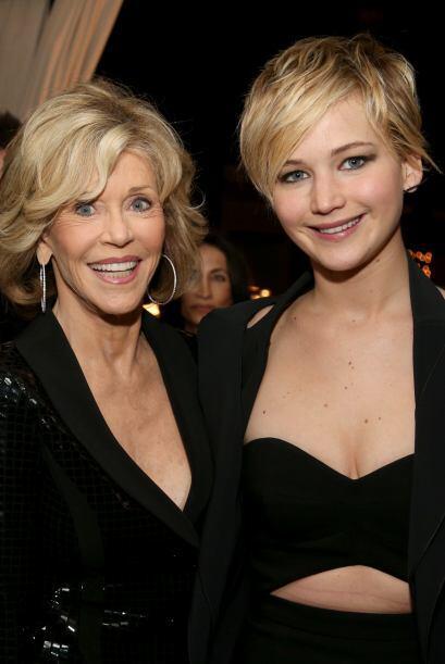 Jennifer Lawrence se topó con la legendaria Jane Fonda y obvio quiso sac...