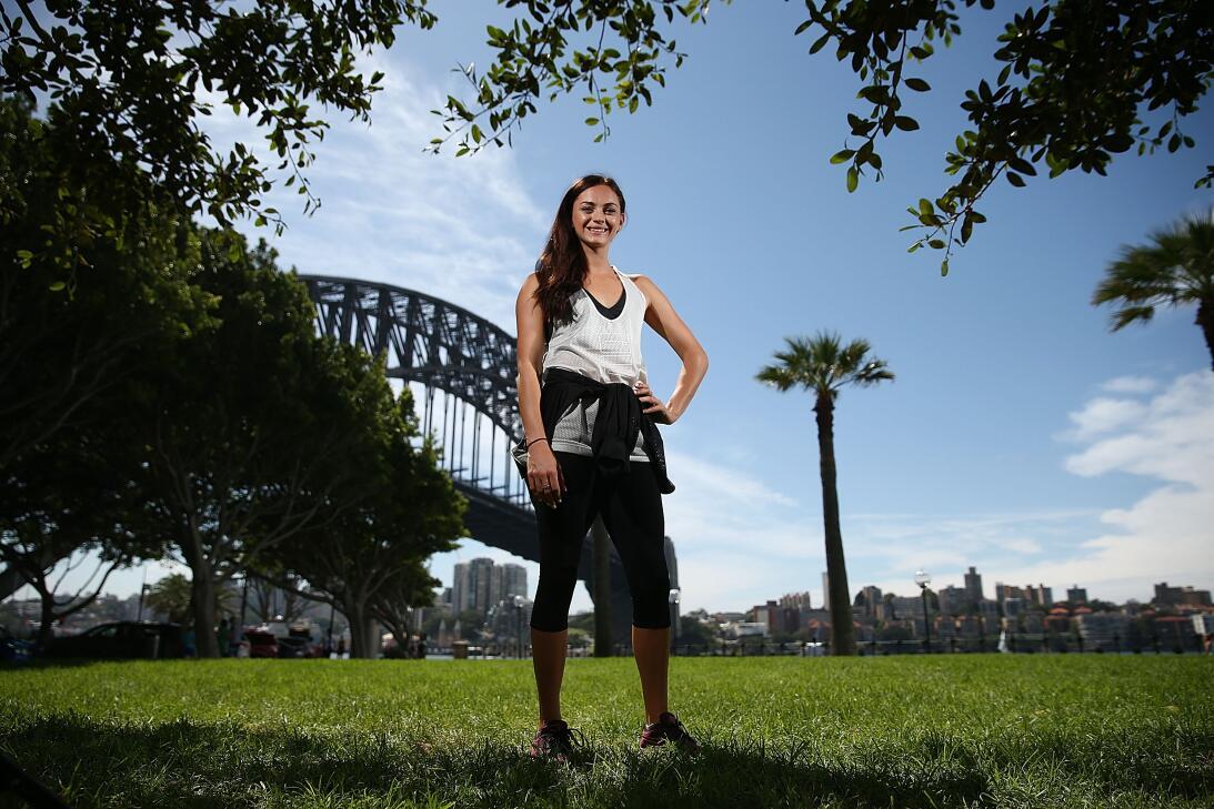 Ella Nelson, una angelical australiana que brilla en el atletismo GettyI...