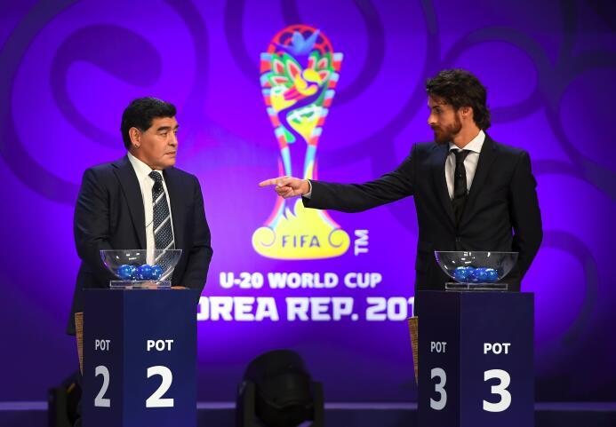 El sorteo del Mundial Sub-20 se vivió como una fiesta con Maradona y Aim...