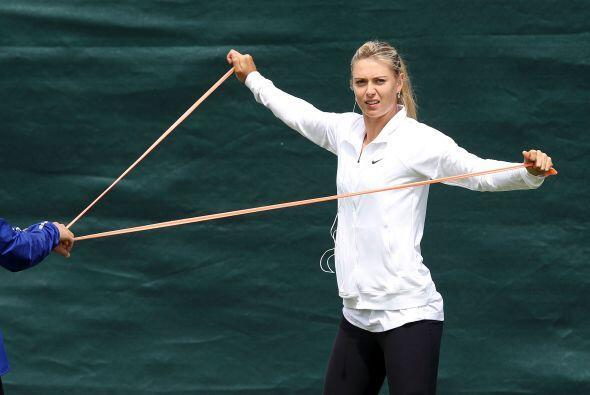 Sharapova entrenaba los días que no tenía partidos para llegar en buena...
