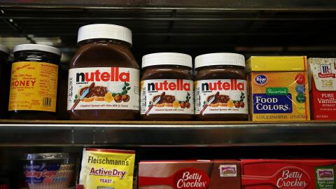 Frascos de Nutella.