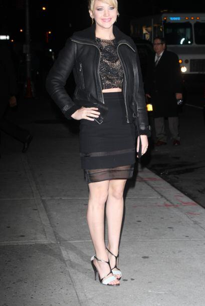 Jennifer Lawrence es una mujer atrevida que retó al frío e...