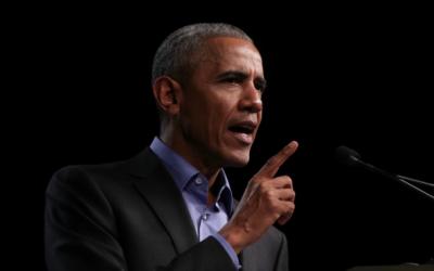 Barack Obama en la primera cumbre de la Fundación Obama en Chicago