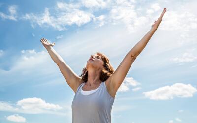 recibiendo energía del Sol