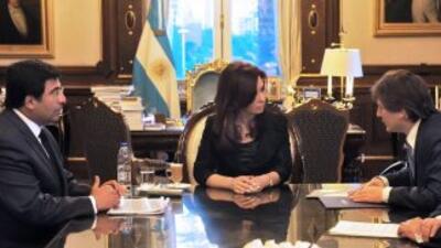 La presidenta de Argentina, Cristina Fernández retomó sus actividades po...
