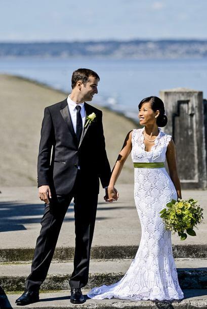 Este vestido tejido es realmente lindo y perfecto pra una boda en primav...
