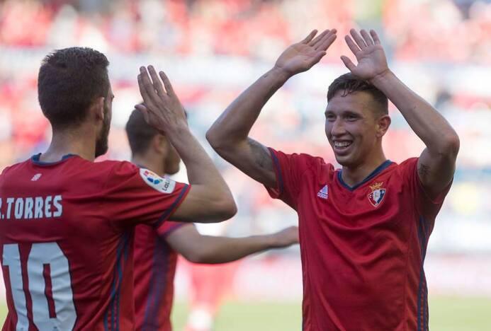 Jhon Steven Mondragón apenas debutó en la temporada 16/17 con el Osasuna...